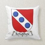 Escudo de la familia de Schultheis Cojin