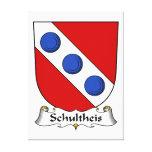 Escudo de la familia de Schultheis Impresión En Lona