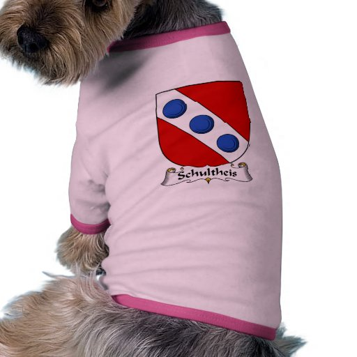 Escudo de la familia de Schultheis Camisetas De Mascota