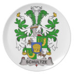 Escudo de la familia de Schultze Plato De Cena