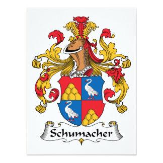 """Escudo de la familia de Schumacher Invitación 6.5"""" X 8.75"""""""