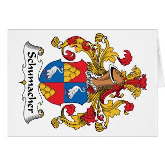 Escudo de la familia de Schumacher Tarjeta De Felicitación