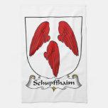 Escudo de la familia de Schupffhaim Toallas De Mano