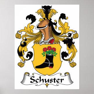 Escudo de la familia de Schuster Póster