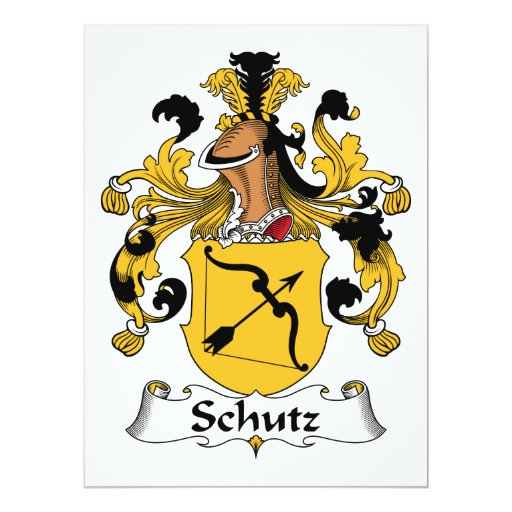 Escudo de la familia de Schutz Invitación