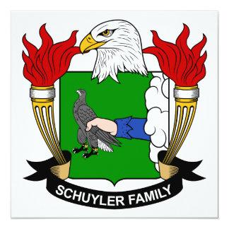 Escudo de la familia de Schuyler Invitación Personalizada