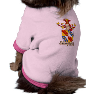 Escudo de la familia de Schwaiger Camisetas Mascota