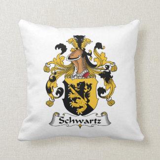 Escudo de la familia de Schwartz Cojines