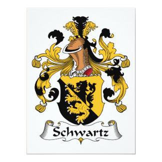 Escudo de la familia de Schwartz Invitación 16,5 X 22,2 Cm