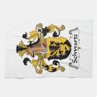 Escudo de la familia de Schwartz Toallas
