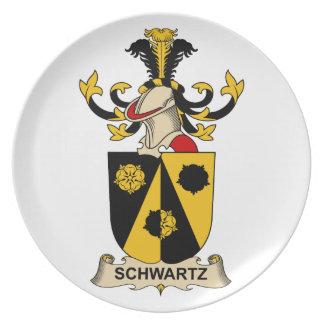 Escudo de la familia de Schwartz Plato De Comida