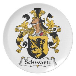 Escudo de la familia de Schwartz Platos De Comidas