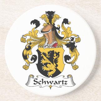 Escudo de la familia de Schwartz Posavasos Manualidades
