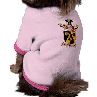 Escudo de la familia de Schwartz Camiseta De Mascota