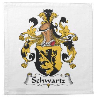 Escudo de la familia de Schwartz Servilleta