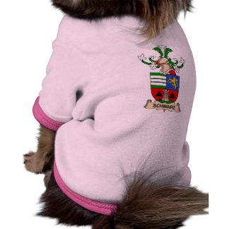 Escudo de la familia de Schwarz Camisetas De Perro