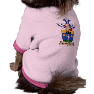 Escudo de la familia de Schweiger Camisa De Mascota
