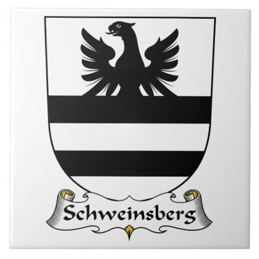 Escudo de la familia de Schweinsberg Azulejo