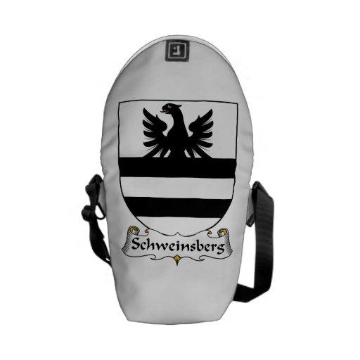 Escudo de la familia de Schweinsberg Bolsas Messenger