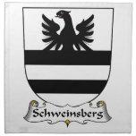 Escudo de la familia de Schweinsberg Servilletas