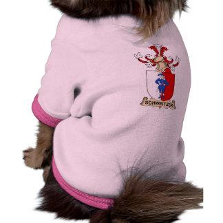 Escudo de la familia de Schweitzer Camiseta De Mascota