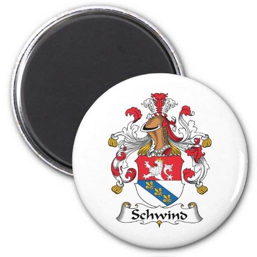 Escudo de la familia de Schwind Imán Redondo 5 Cm