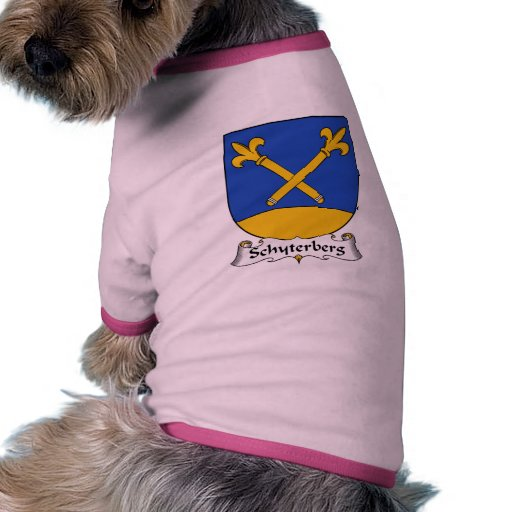 Escudo de la familia de Schyterberg Camiseta Con Mangas Para Perro