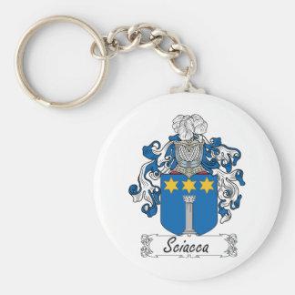 Escudo de la familia de Sciacca Llavero Redondo Tipo Pin