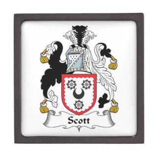 Escudo de la familia de Scott Cajas De Recuerdo De Calidad