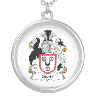 Escudo de la familia de Scott Colgante Redondo