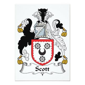 """Escudo de la familia de Scott Invitación 5"""" X 7"""""""