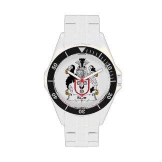 Escudo de la familia de Scott Reloj De Mano
