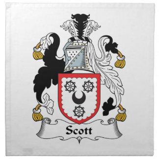 Escudo de la familia de Scott Servilletas De Papel