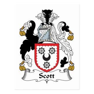 Escudo de la familia de Scott Tarjeta Postal
