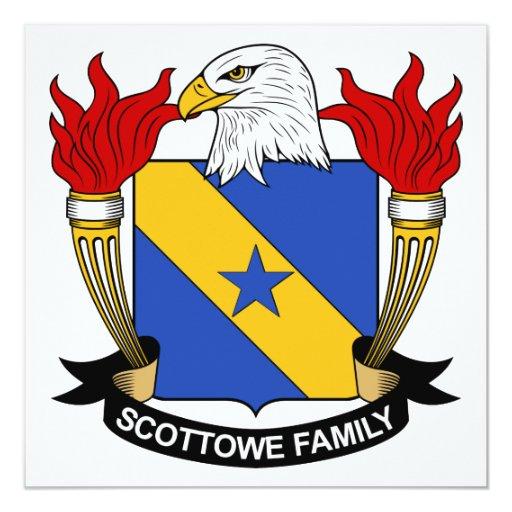 Escudo de la familia de Scottowe Invitación 13,3 Cm X 13,3cm