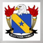 Escudo de la familia de Scottowe Posters