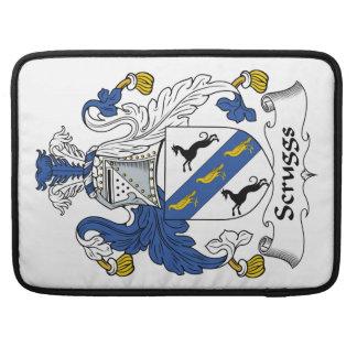 Escudo de la familia de Scruggs Funda Macbook Pro