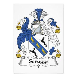 Escudo de la familia de Scruggs Invitaciones Personalizada