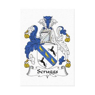 Escudo de la familia de Scruggs Lona Estirada Galerías