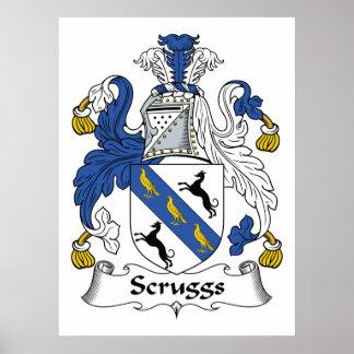 Escudo de la familia de Scruggs Posters