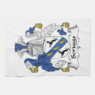 Escudo de la familia de Scruggs Toallas