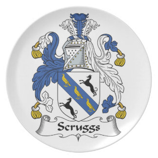 Escudo de la familia de Scruggs Plato De Cena