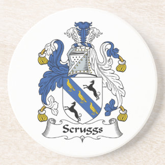 Escudo de la familia de Scruggs Posavasos Para Bebidas