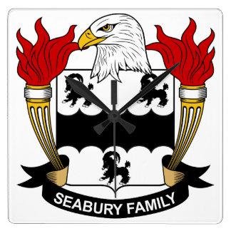 Escudo de la familia de Seabury Reloj Cuadrado