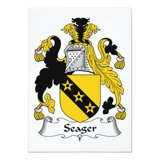 Escudo de la familia de Seager Invitación Personalizada