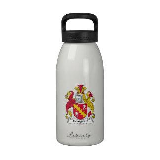 Escudo de la familia de Seargent Botella De Agua Reutilizable