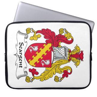 Escudo de la familia de Seargent Funda Computadora