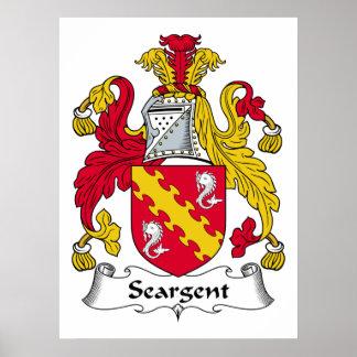 Escudo de la familia de Seargent Poster