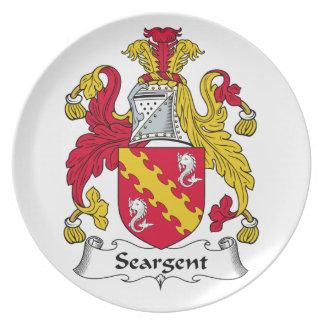 Escudo de la familia de Seargent Plato De Comida
