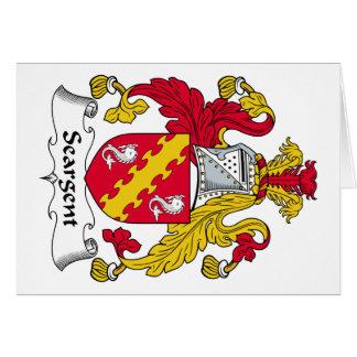 Escudo de la familia de Seargent Tarjeta